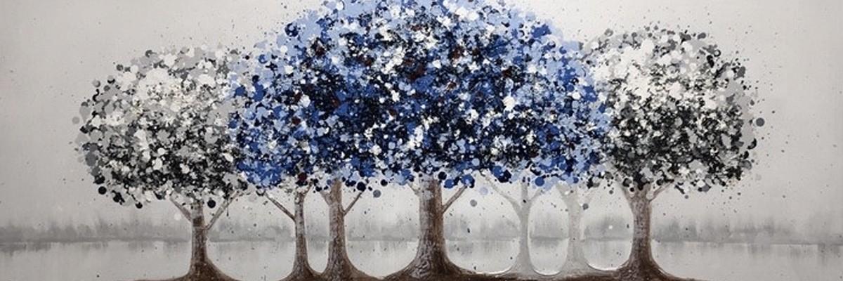 blå tavlor