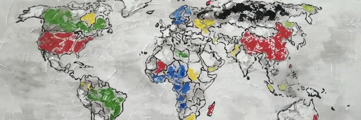 världskartor tavlor